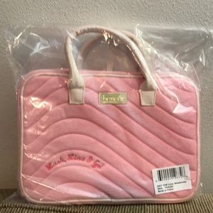 Benefit Makeup pink bag.Lash, Line & Go. 11x3x8 in